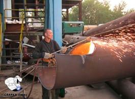 Демонтаж металлических больших и малых труб резка вывоз Сварка Люкс Екатеринбург