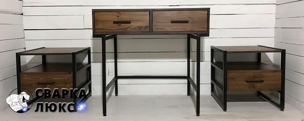 Купить мебель лофт или индастриал металл дерево тумба стол лофт индастриал