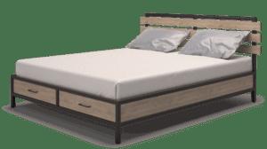 Купить, заказать кровать ЛОФТ на металлокаркасе Сварка Люкс Екатеринбург